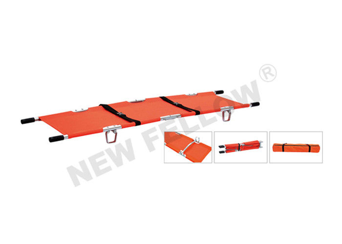 Double folded Popular Patient Transfer Folding Pole Stretcher With Bag