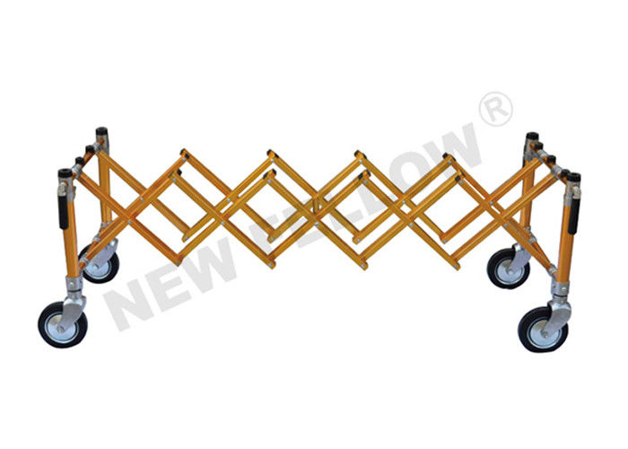 Aluminum Alloy Church X - Frame Telescopic Funeral Trolley With Wheel